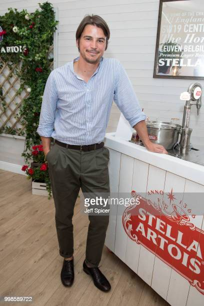 Stella Artois hosts Josh Hartnett at The Championships Wimbledon as the Official Beer of the tournament at Wimbledon on July 14 2018 in London England