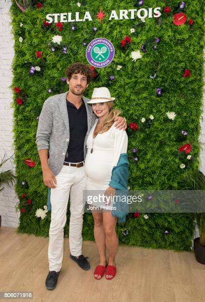 Stella Artois hosts Kimberly Wyatt and Max Rogers at The Championships Wimbledon as official beer of the tournament at Wimbledon on July 3 2017 in...