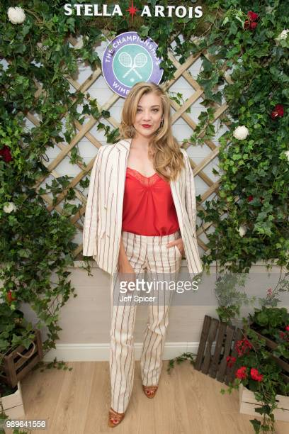 Stella Artois hosts Natalie Dormer at The Championships, Wimbledon as the Official Beer of the tournament at Wimbledon on July 2, 2018 in London,...