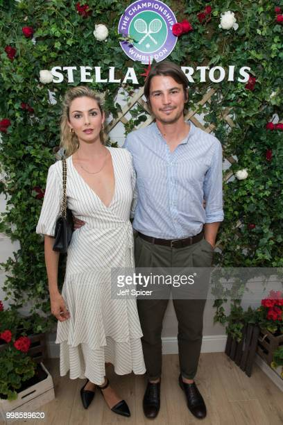 Stella Artois hosts Tamsin Egerton and Josh Hartnett at The Championships Wimbledon as the Official Beer of the tournament at Wimbledon on July 14...