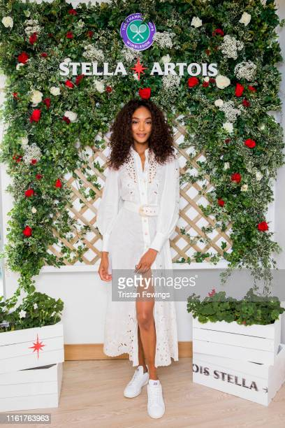 Stella Artois the Official Beer of The Championships Wimbledon hosts Jourdan Dunn on the Ladies' Singles Final day July 13 2019 in Wimbledon England