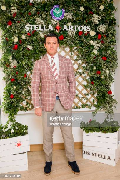 Stella Artois, the Official Beer of The Championships, Wimbledon hosts Luke Evans on the Ladies' Singles Final day July 13, 2019 in Wimbledon,...