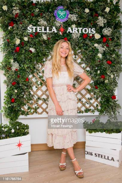 Stella Artois, the Official Beer of The Championships, Wimbledon hosts Clara Pageton the Ladies' Singles Final day July 13, 2019 in Wimbledon,...