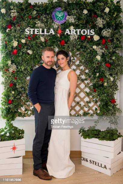 Stella Artois, the Official Beer of the Wimbledon Championships, host Gemma Arterton and Rory Keenan on the Gentleman's Final on July 14, 2019 in...