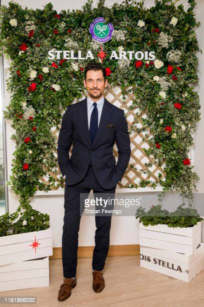Stella Artois, the Official Beer of the Wimbledon Championships, hosts David Gandy on the Gentleman's Final on July 14, 2019 in Wimbledon, England.