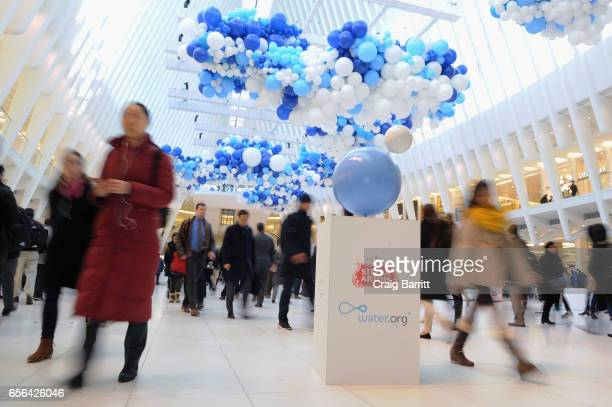 "Stella Artois unveils ""The Water Clouds by Stella Artois"" a public art installation that visualizes the impact of the ""Buy A Lady A Drink"" campaign –..."