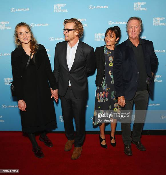 Stella Baker Simon Baker Rebecca Rigg and Bryan Brown arrive ahead of the Sydney Film Festival Opening Night Gala at State Theatre on June 8 2016 in...