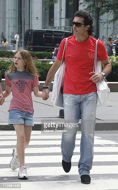Stella Banderas and Antonio Banderas during Melanie Griffith Stella Banderas and Antonio Banderas Sighting in New York City June 29 2006 at New York...