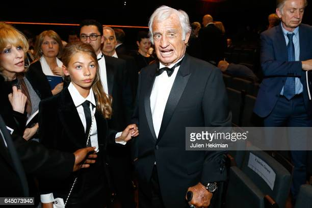 Stella Belmondo and JeanPaul Belmondo pose during the Cesar Film Awards Ceremony at Salle Pleyel on February 24 2017 in Paris France