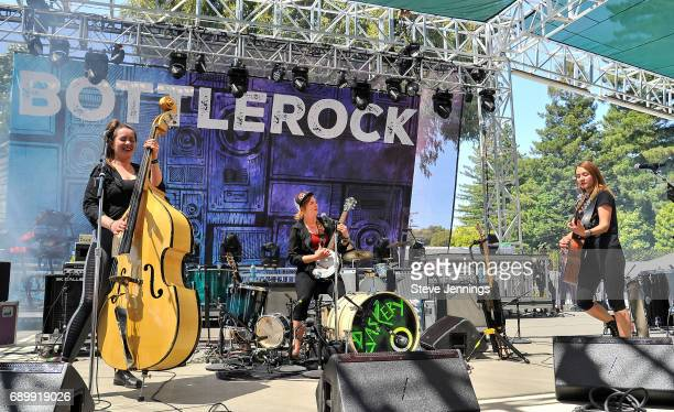 Stella Bondesson Greta Bondesson and Sunniva Bondesson of Baskery perform on Day 3 of BottleRock Napa Valley 2017 on May 28 2017 in Napa California