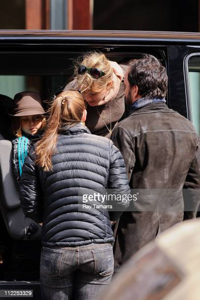 Stella Busina Matthews Ashley Harper and musician Dave Matthews leave a Tribeca hotel on April 15 2011 in New York City