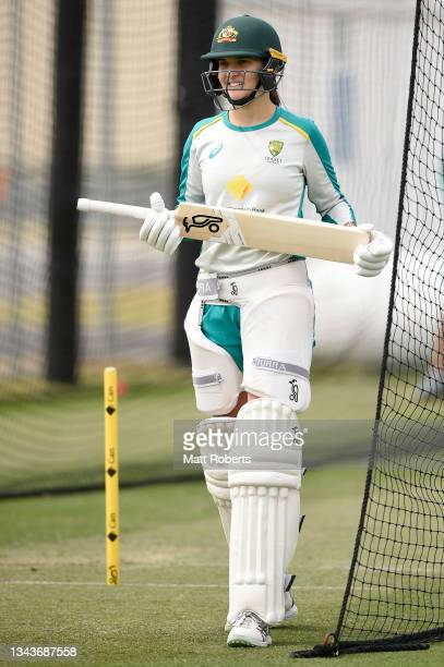 Stella Campbell of Australia during a training session after a media opportunity ahead of the Women's International Test match between Australia and...