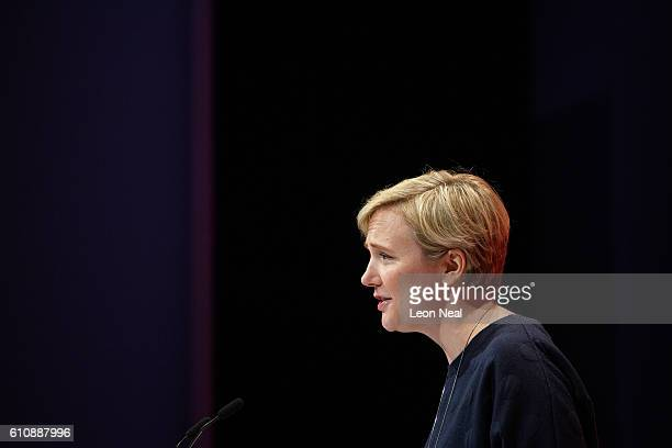Stella Creasy addresses delegates in the main hall on day four of the Labour Party conference on September 28 2016 in Liverpool England On the last...