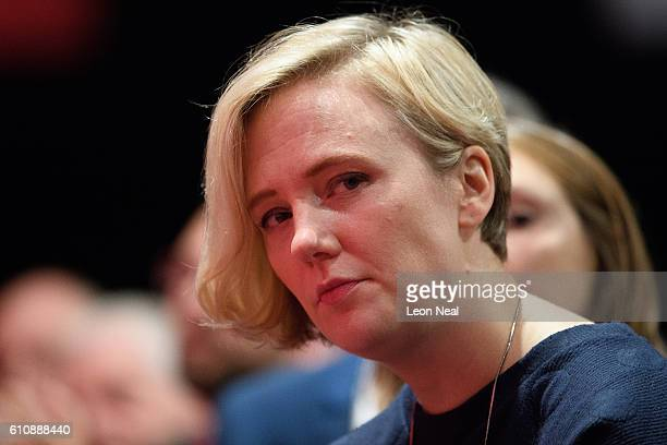 Stella Creasy listens to a speech in the main hall on day four of the Labour Party conference on September 28 2016 in Liverpool England On the last...