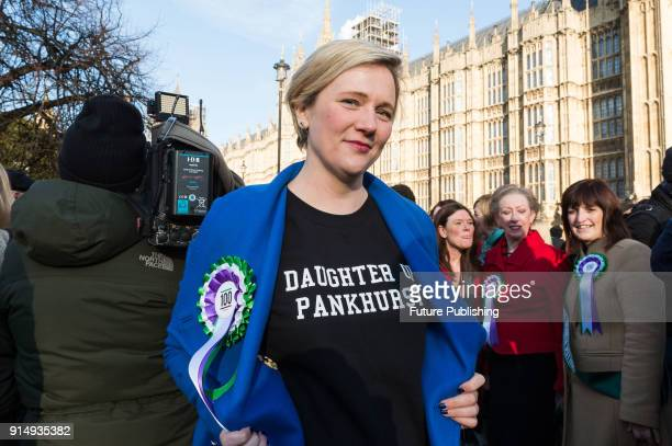 Stella Creasy MP joined Labour female politicians outside Parliament as the Labour Party launches campaign to celebrate the 100th anniversary of the...