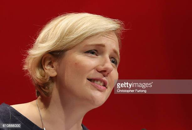 Stella Creasy MP speaks to delegates on the last day of the Labour party conference on September 28 2016 in Liverpool England On the last day of the...