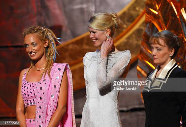 Stella Deetjen Claudia Schiffer and Shana Dale during The 2006 Women's World Awards Show at The Hammerstein Ballroom in New York City New York United...
