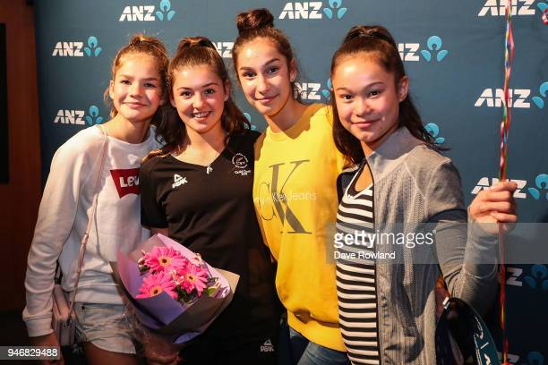 Stella Ebert rhythmic gymnast during the Welcome Home Function at Novotel on April 16 2018 in Auckland New Zealand
