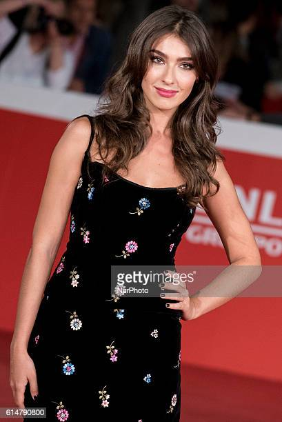Stella Egitto attends red carpet or 'Manchester By The Sea' during the 11th Rome Film Festival at Auditorium Parco Della Musica on October 14, 2016...
