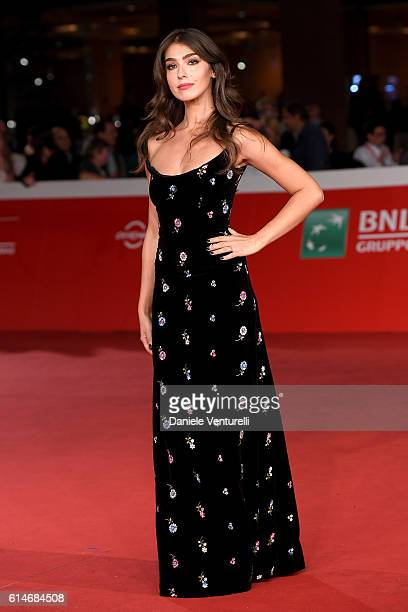 Stella Egitto walks a red carpet for 'Manchester By The Sea' during the 11th Rome Film Festival at Auditorium Parco Della Musica on October 14 2016...
