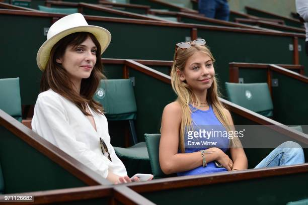 Stella Eva Angelina Belmondo daughter of French film star JeanPaul Belmondo during Day 15 of the French Open 2018 on June 10 2018 in Paris France
