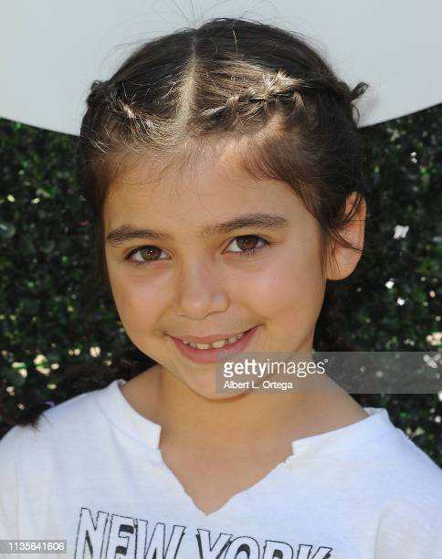 Stella Flores arrives for Clubhouse Kidchella held at Pershing Square on April 6 2019 in Los Angeles California