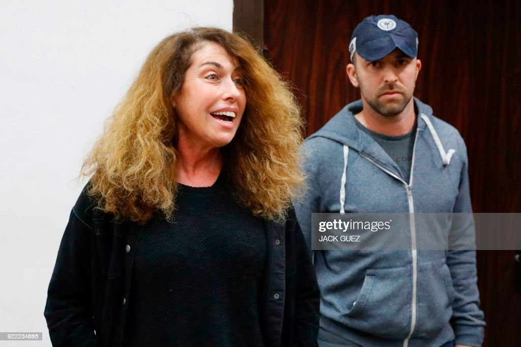 Stella Handler, CEO of the Israeli Bezeq telecommunication company, appears in the Israeli Justice Court in Tel Aviv in one of the graft probes threatening the Israeli prime minister on February 21, 2018. /
