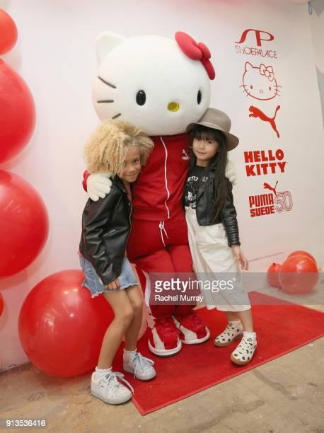 897c14f48bf Stella Hello Kitty and Zooey Miyoshi attend PUMA x Hello Kitty Launch Event  At Shoe Palace