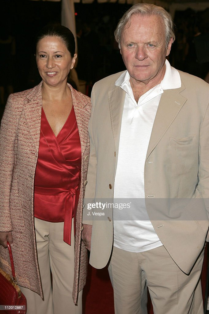 Stella Hopkins and Sir Anthony Hopkins during 2005 Toronto Film Festival - 'Proof' Premiere at Roy Thompson Hall in Toronto, Canada.