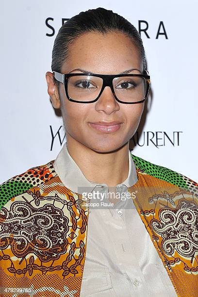 Stella Jean attends 'Yves Saint Laurent' Premiere on March 17 2014 in Milan Italy