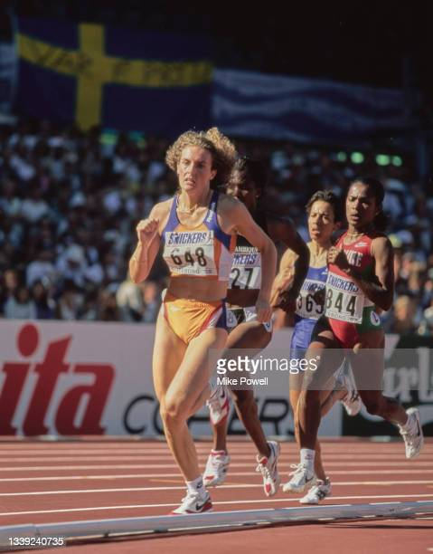 Stella Jongmans of the Netherlands running in the Women's 800 metres event at the 5th International Association of Athletics Federations IAAF World...