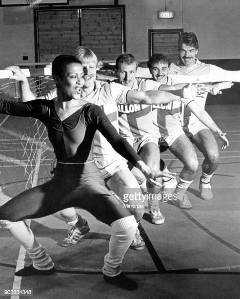 Stella Mae from the English Dance Theatre puts some of the City's squad through their paces on the day ballet came to the Sky Blue Connection But...