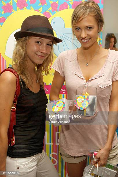 Stella Maeve and Marnette Patterson attend the Kari Feinstein Primetime Emmy Awards style lounge at Zune LA on September 18 2009 in Los Angeles...