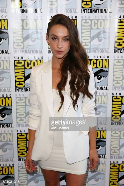 Stella Maeve arrives at 'The Magicians' press line at ComicCon International 2017 on July 22 2017 in San Diego California