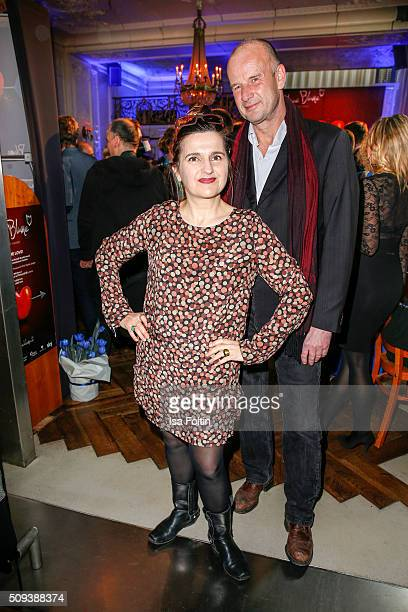 Stella Maria Adorf and her husband Alfred Peter attend the Blaue Blume Awards 2016 on February 10 2016 in Berlin Germany