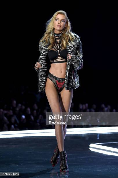 Stella Maxwel walks the runway during the 2017 Victoria's Secret Fashion Show In Shanghai at MercedesBenz Arena on November 20 2017 in Shanghai China