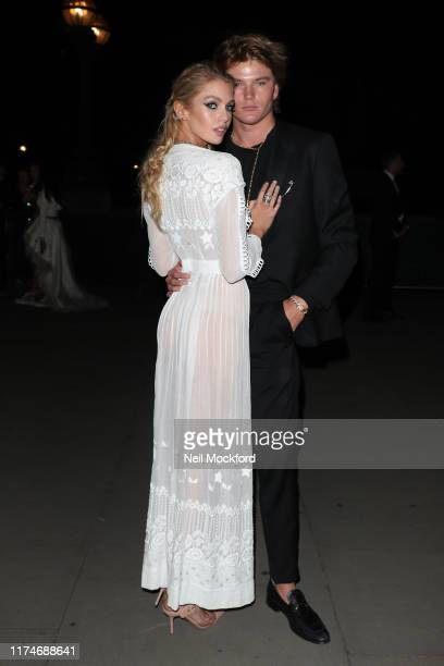 Stella Maxwell and Jordan Barrett arrive at Fashion For Relief London 2019 at The British Museum during LFW September 2019 on September 14 2019 in...