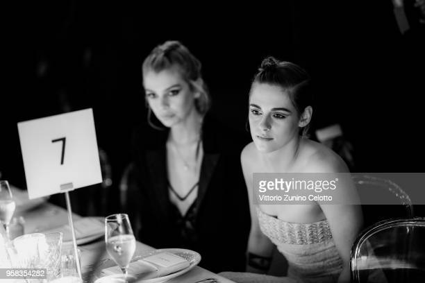Stella Maxwell and Kristen Stewart attend the Women in Motion Awards Dinner presented by Kering and the 71th Cannes Film Festival at Place de la...
