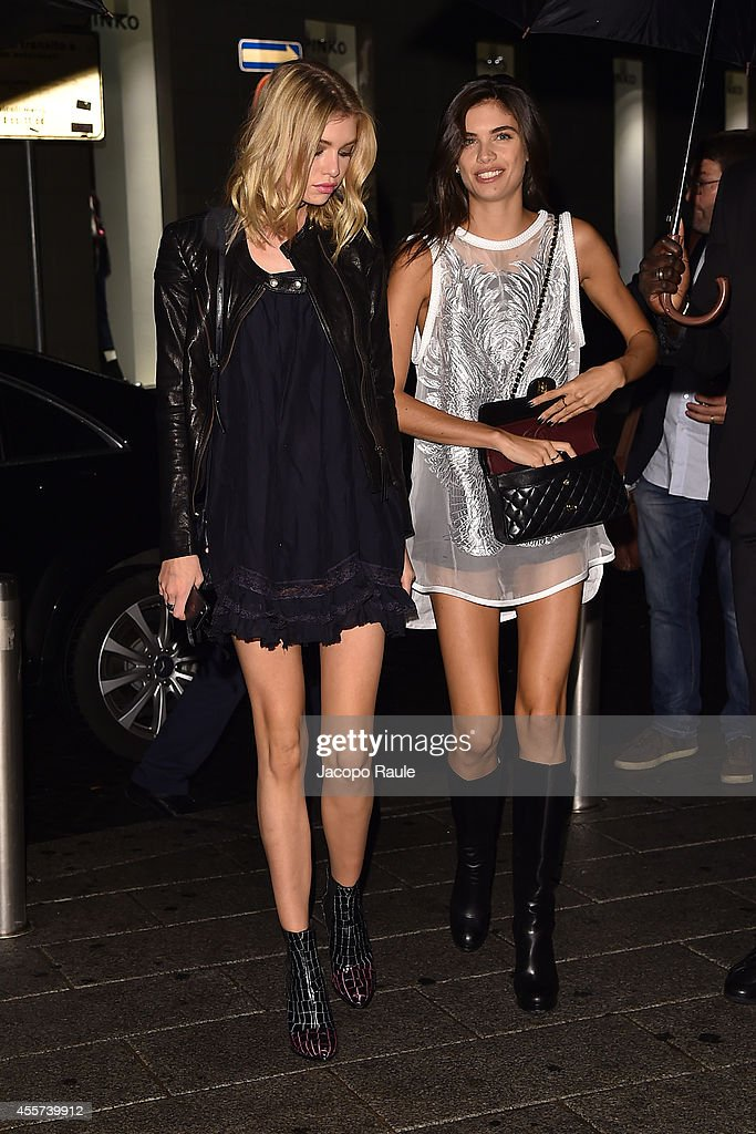 Stella Maxwell and Sara Sampaio attend Replay Store Preview during Milan Fashion Week Womenswear Spring/Summer 2015 on September 19, 2014 in Milan, Italy.