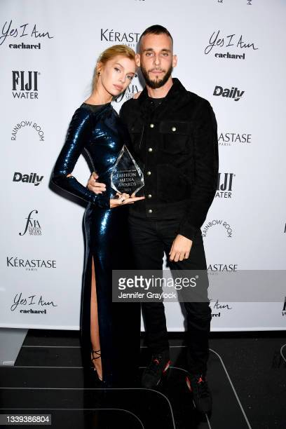 Stella Maxwell and Vladimir Restoin Roitfeld attend the The Daily Front Row 8th Annual Fashion Media Awards on September 09, 2021 in New York City.