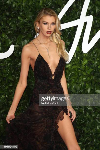 Stella Maxwell arrives at The Fashion Awards 2019 held at Royal Albert Hall on December 02 2019 in London England
