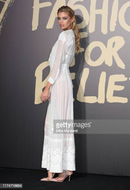 Stella Maxwell attends Fashion For Relief London 2019 at The British Museum on September 14 2019 in London England