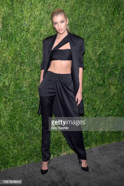 Stella Maxwell attends the CFDA / Vogue Fashion Fund 15th Anniversary Event at Brooklyn Navy Yard on November 5 2018 in Brooklyn New York