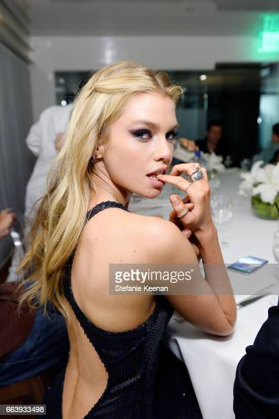 Stella Maxwell attends The Daily Front Row and REVOLVE FLA after party at Mr Chow hosted by Mert Alas on April 2 2017 in Los Angeles California