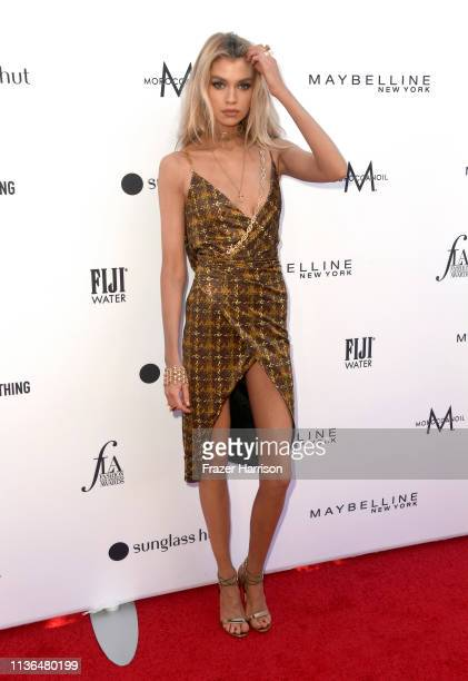 Stella Maxwell attends the Daily Front Row's 5th Annual Fashion Los Angeles Awards at Beverly Hills Hotel on March 17 2019 in Beverly Hills California