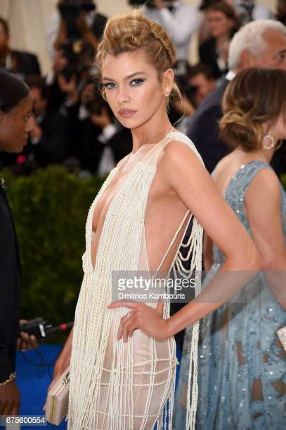Stella Maxwell attends the 'Rei Kawakubo/Comme des Garcons Art Of The InBetween' Costume Institute Gala at Metropolitan Museum of Art on May 1 2017...