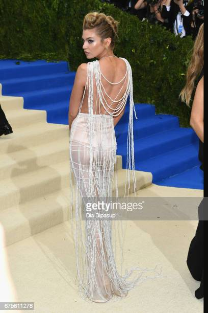 Stella Maxwell attends the Rei Kawakubo/Comme des Garcons Art Of The InBetween Costume Institute Gala at Metropolitan Museum of Art on May 1 2017 in...