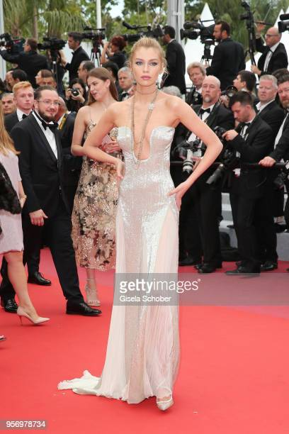Stella Maxwell attends the screening of Sorry Angel during the 71st annual Cannes Film Festival at Palais des Festivals on May 10 2018 in Cannes...