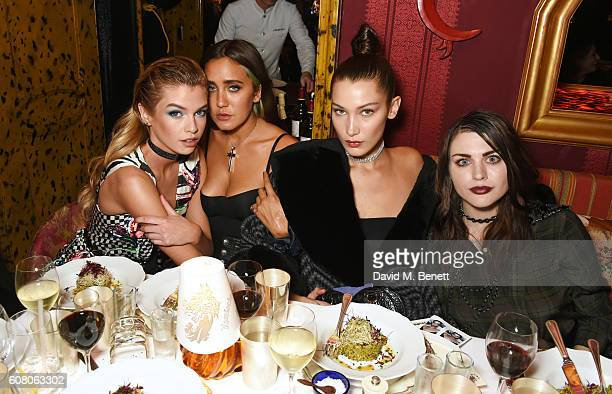 Stella Maxwell Jesse Jo Stark Bella Hadid and Frances Bean Cobain attend LOVE Magazine and Marc Jacobs LFW Party to celebrate LOVE 165 collector's...