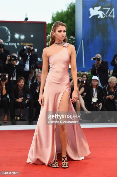Stella Maxwell walks the red carpet ahead of the 'mother' screening during the 74th Venice Film Festival at Sala Grande on September 5 2017 in Venice...